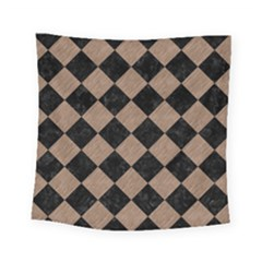 Square2 Black Marble & Brown Colored Pencil Square Tapestry (small) by trendistuff
