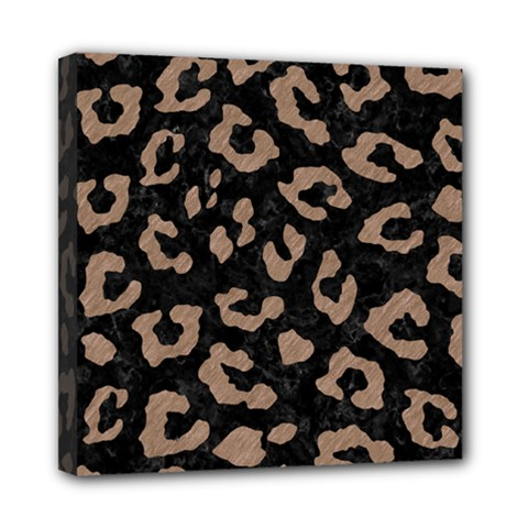 Skin5 Black Marble & Brown Colored Pencil (r) Mini Canvas 8  X 8  (stretched) by trendistuff