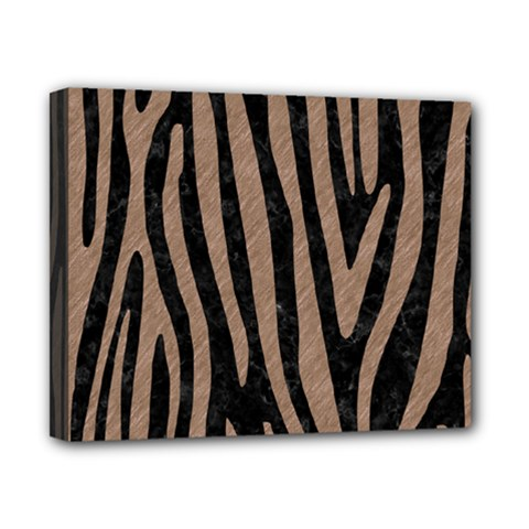 Skin4 Black Marble & Brown Colored Pencil (r) Canvas 10  X 8  (stretched) by trendistuff