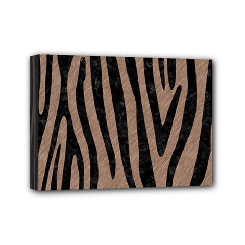Skin4 Black Marble & Brown Colored Pencil Mini Canvas 7  X 5  (stretched) by trendistuff