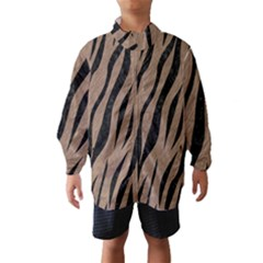 Skin3 Black Marble & Brown Colored Pencil (r) Wind Breaker (kids)