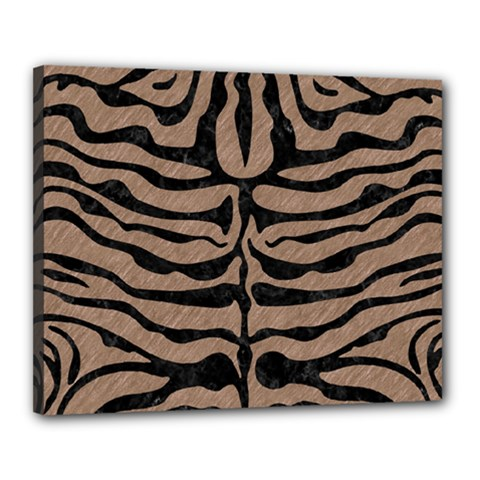 Skin2 Black Marble & Brown Colored Pencil (r) Canvas 20  X 16  (stretched) by trendistuff