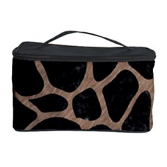 Skin1 Black Marble & Brown Colored Pencil (r) Cosmetic Storage Case by trendistuff
