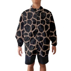 Skin1 Black Marble & Brown Colored Pencil (r) Wind Breaker (kids)
