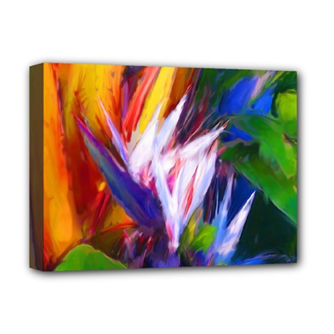 Palms02 Deluxe Canvas 16  X 12   by psweetsdesign