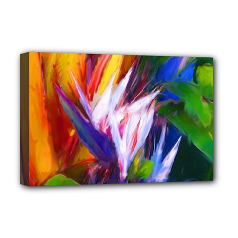 Palms02 Deluxe Canvas 18  X 12   by psweetsdesign