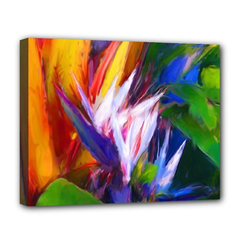 Palms02 Deluxe Canvas 20  X 16   by psweetsdesign