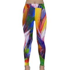 Palms02 Classic Yoga Leggings by psweetsdesign