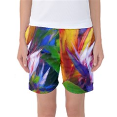 Palms02 Women s Basketball Shorts by psweetsdesign
