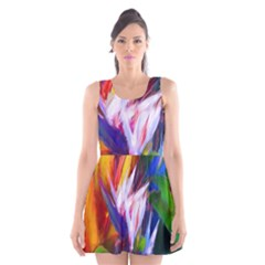 Palms02 Scoop Neck Skater Dress