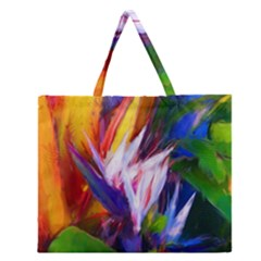 Palms02 Zipper Large Tote Bag by psweetsdesign