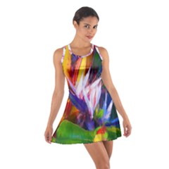 Palms02 Cotton Racerback Dress