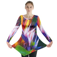 Palms02 Long Sleeve Tunic  by psweetsdesign