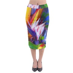 Palms02 Midi Pencil Skirt by psweetsdesign