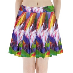 Palms02 Pleated Mini Skirt by psweetsdesign