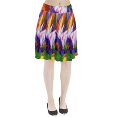 Palms02 Pleated Skirt by psweetsdesign