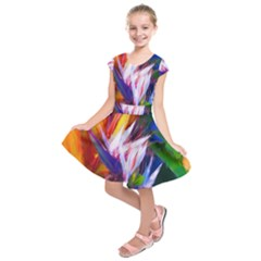 Palms02 Kids  Short Sleeve Dress by psweetsdesign