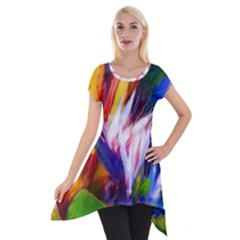 Palms02 Short Sleeve Side Drop Tunic by psweetsdesign