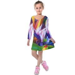 Palms02 Kids  Long Sleeve Velvet Dress by psweetsdesign