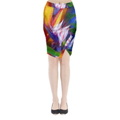 Palms02 Midi Wrap Pencil Skirt