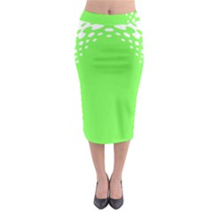 Bubble Polka Circle Green Midi Pencil Skirt by Mariart