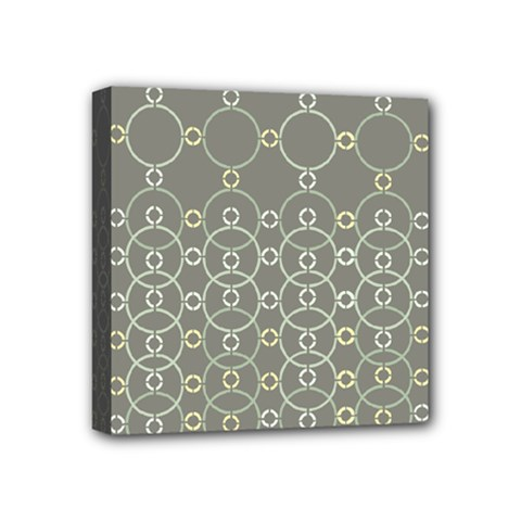 Circles Grey Polka Mini Canvas 4  X 4  by Mariart