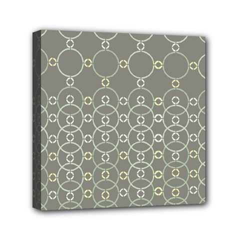 Circles Grey Polka Mini Canvas 6  X 6  by Mariart