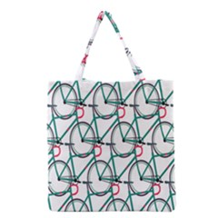 Bicycle Cycling Bike Green Sport Grocery Tote Bag by Mariart
