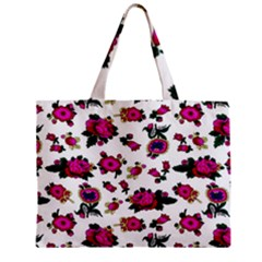 Crown Red Flower Floral Calm Rose Sunflower White Zipper Mini Tote Bag by Mariart