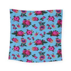 Crown Red Flower Floral Calm Rose Sunflower Square Tapestry (small) by Mariart