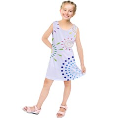 Fireworks Illustrations Fire Partty Polka Kids  Tunic Dress