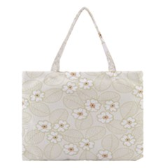 Flower Floral Leaf Medium Tote Bag by Mariart