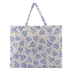 Glass Polka Circle Blue Zipper Large Tote Bag by Mariart