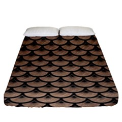 Scales3 Black Marble & Brown Colored Pencil (r) Fitted Sheet (king Size) by trendistuff