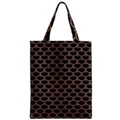Scales3 Black Marble & Brown Colored Pencil Zipper Classic Tote Bag by trendistuff
