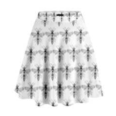 Bee Wasp Sting High Waist Skirt by Mariart