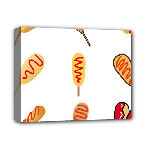 Hot Dog Buns Sate Sauce Bread Deluxe Canvas 14  X 11  by Mariart