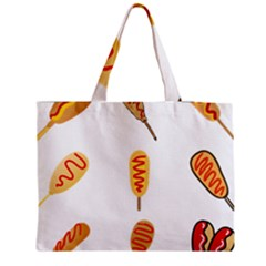 Hot Dog Buns Sate Sauce Bread Medium Tote Bag by Mariart