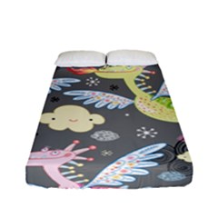 Dragonfly Animals Dragom Monster Fair Cloud Circle Polka Fitted Sheet (full/ Double Size) by Mariart