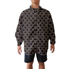 Scales2 Black Marble & Brown Colored Pencil Wind Breaker (kids)