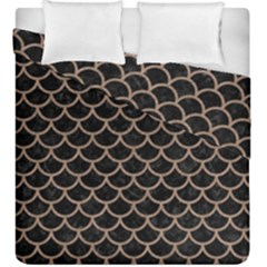 Scales1 Black Marble & Brown Colored Pencil Duvet Cover Double Side (king Size) by trendistuff