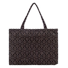 Hexagon1 Black Marble & Brown Colored Pencil Medium Tote Bag by trendistuff