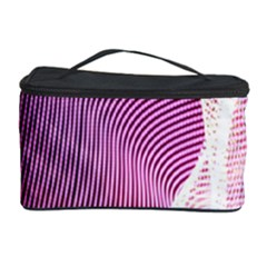 Light Means Net Pink Rainbow Waves Wave Chevron Cosmetic Storage Case by Mariart