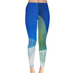 Light Means Net Pink Rainbow Waves Wave Chevron Green Blue Leggings  by Mariart