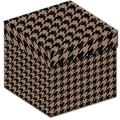 Houndstooth1 Black Marble & Brown Colored Pencil Storage Stool 12  by trendistuff