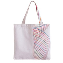 Line Wave Rainbow Grocery Tote Bag by Mariart