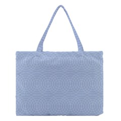 Seamless Lines Concentric Circles Trendy Color Heavenly Light Airy Blue Medium Tote Bag by Mariart