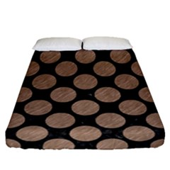 Circles2 Black Marble & Brown Colored Pencil Fitted Sheet (queen Size) by trendistuff