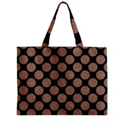 Circles2 Black Marble & Brown Colored Pencil Zipper Mini Tote Bag by trendistuff
