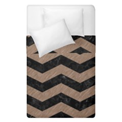 Chevron3 Black Marble & Brown Colored Pencil Duvet Cover Double Side (single Size) by trendistuff